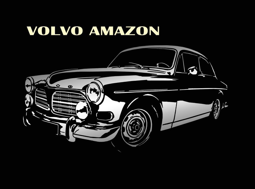 Volvo Amazon Classic T Shirt Sweden 120 121 122 NEW Gaphic Design S - 5XL #SOLS #BasicTee
