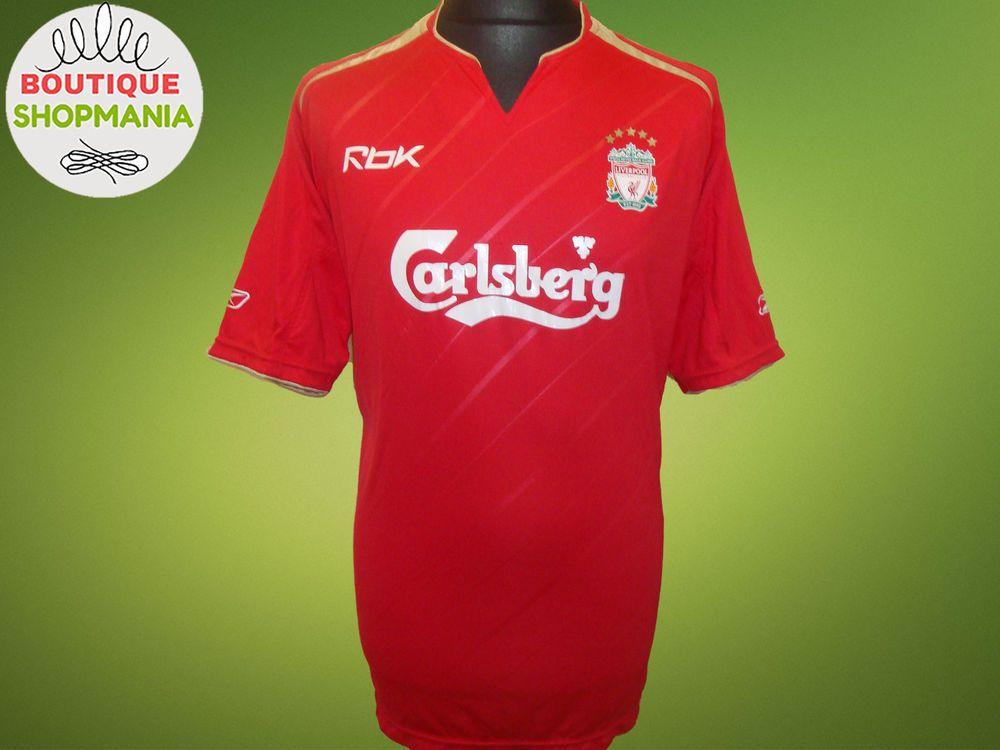 LIVERPOOL CUP 2005-2006 (L) Reebok FOOTBALL SHIRT Jersey Camiseta  Reebok   Liverpool dc79c59723acb