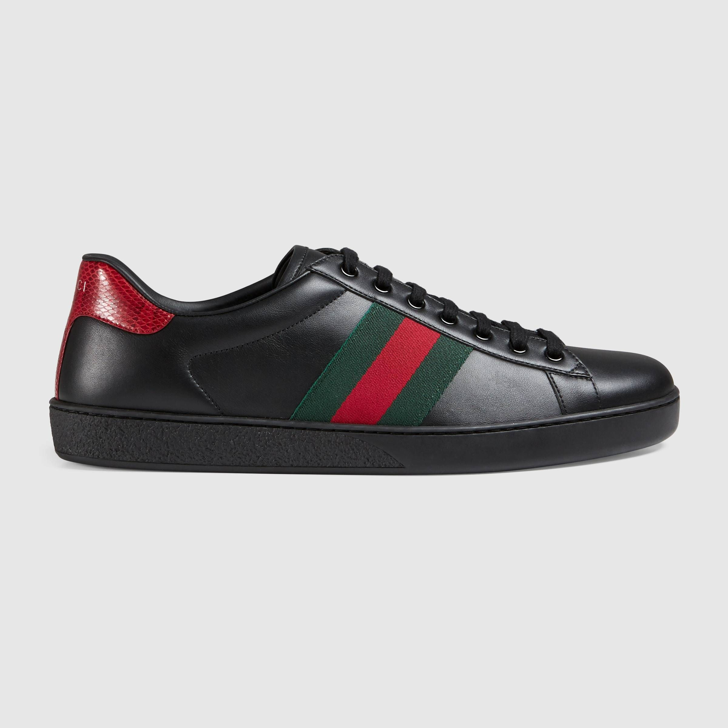 991fa102c Ace leather sneaker | Remember this | Gucci sneakers, Gucci mens ...