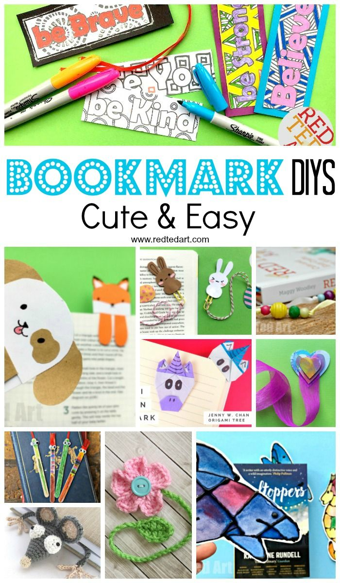 Creative Diy Bookmark Ideas Red Ted Art Make Crafting With Kids Easy Fun Creative Diy Bookmarks Easy Arts And Crafts Bookmark Craft