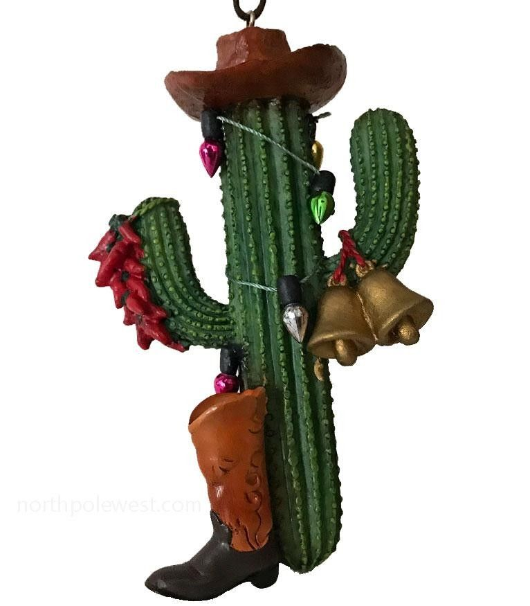 Saguaro Cactus Cowboy Southwestern Christmas Ornament for Tree or Gift