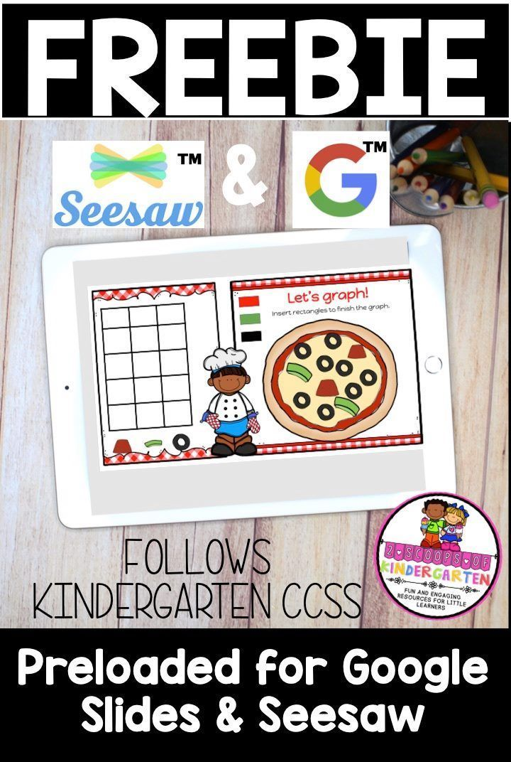 Seesaw & Google slides Kindergarten graphing freebie in