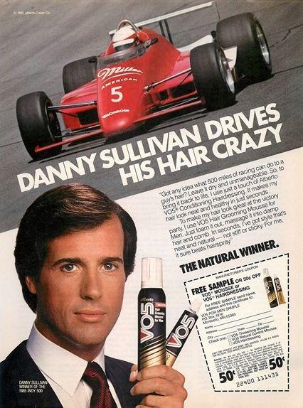 1985 Alberto V05 Hair Grooming Mousse Danny Sullivan Ad Adaholic
