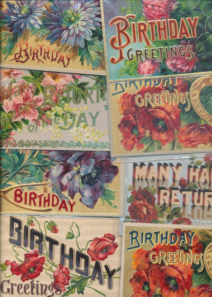 Large Letter Birthday Happy Birthday Vintage Greetings