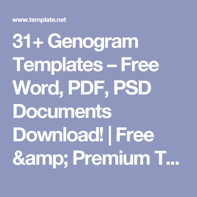 31+ Genogram Templates – Free Word, PDF, PSD Documents Download ...