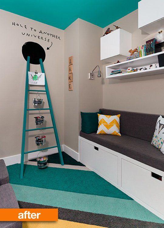 Decoração colorida e moderna para quarto infantil
