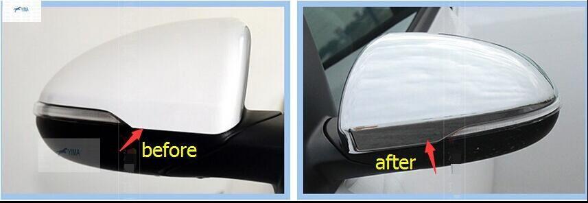 Car Rearview Mirror Cover Rear View Mirror Trim 2Pcs For Kia K5 Optima 2016 2017