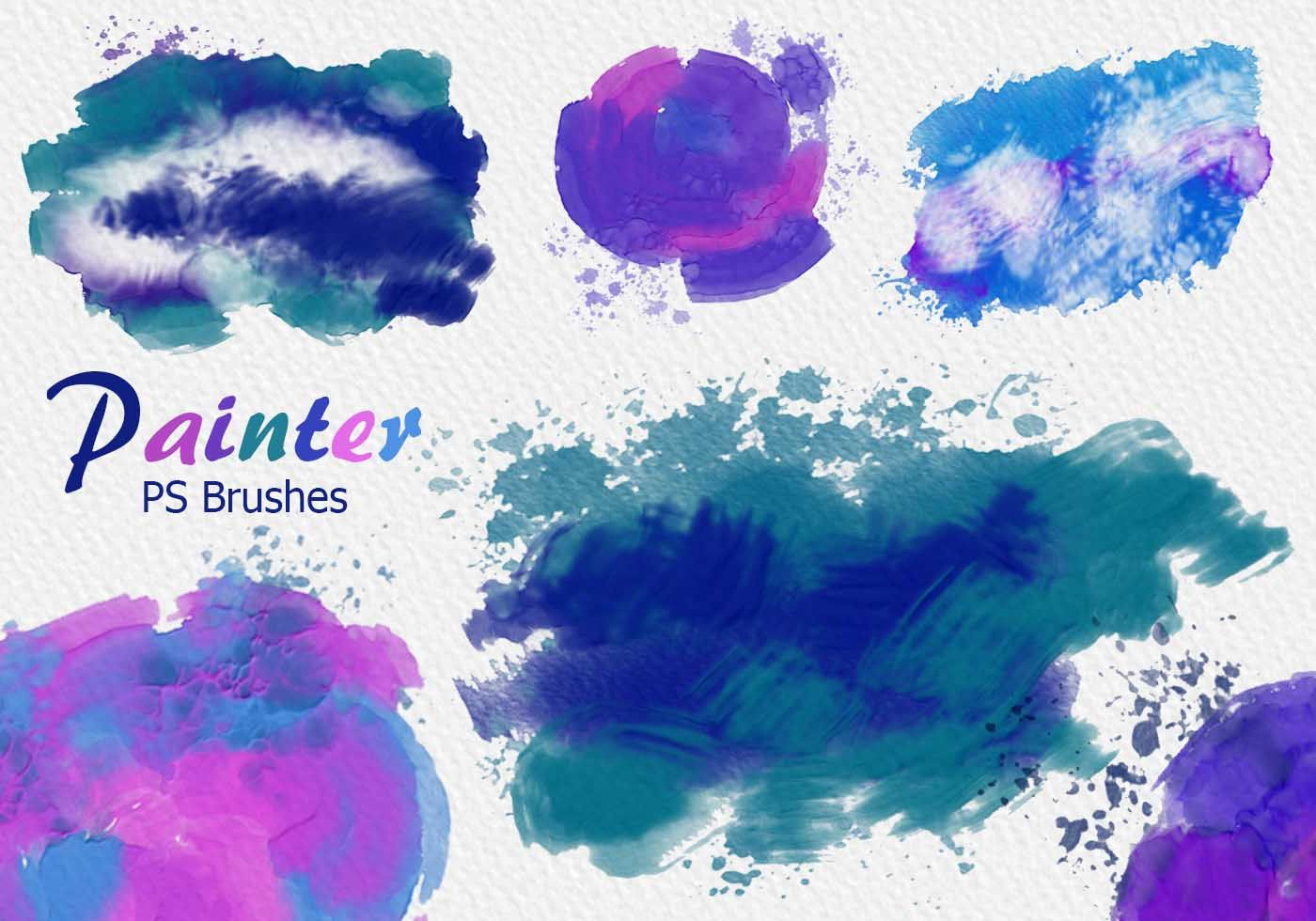 20 Painter Ps Brushes Abr High Res 2500px Vol 11 Ps Brushes