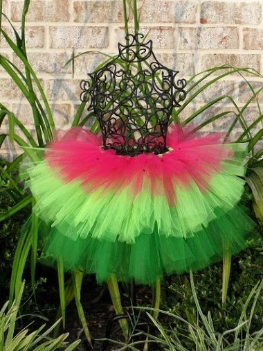 watermelon tutu would wear with a red black polka dot shirt