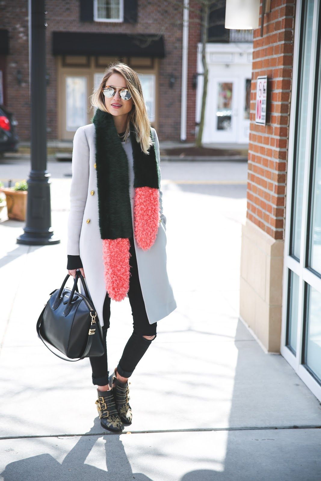 Little Blonde Book by Taylor Morgan | A Life and Style Blog grey coat, statement…