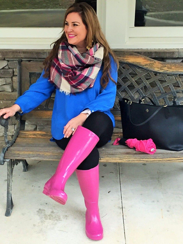 Umbrella - Pink - Blanket Scarf - Joie - Hunter Rain Boots 4 ...