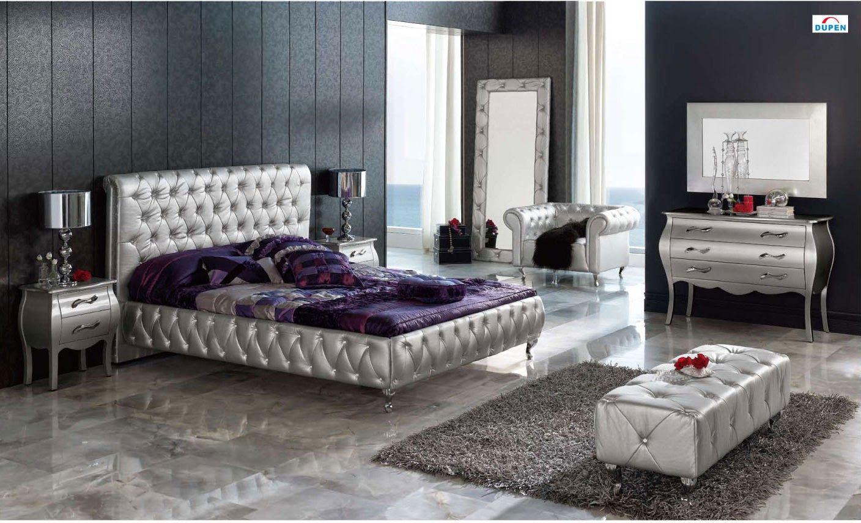 Habitación matrimonial color plata | camas | Pinterest | Color plata ...