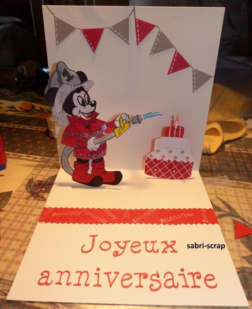 Carte D Anniversaire Pop Up Pour Garcon Carte Anniversaire