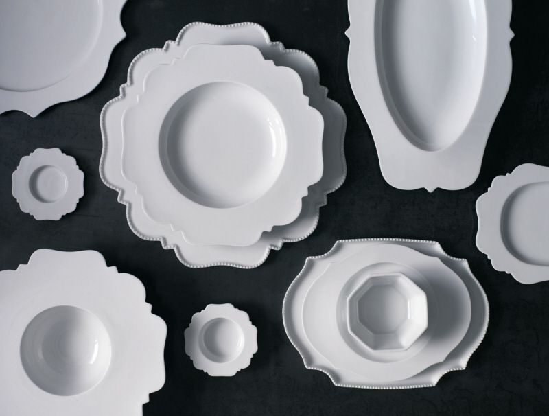 The Taste collection, by Italian designer Paola Navone for Reichenbach. Made of porcelain.