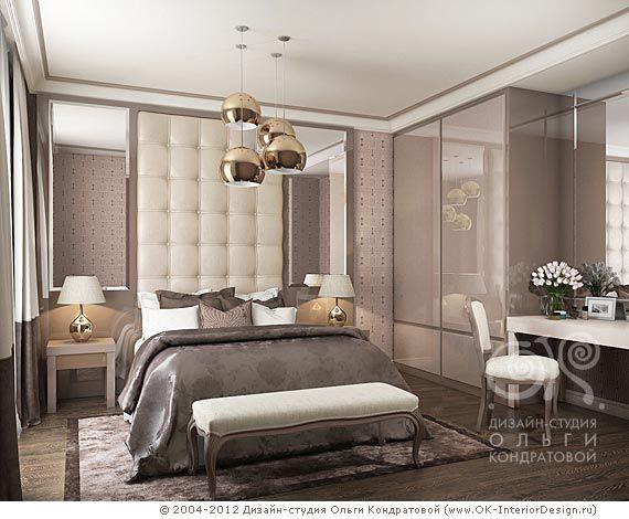 3D дизайн коричневой спальни - http://www.ok-interiordesign.ru ...