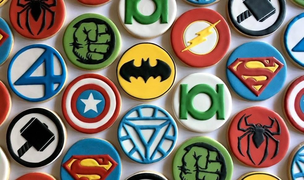 12 Sets Captain America papier cupcake wrappers gâteau Toppers Picks Anniversaire Enfants