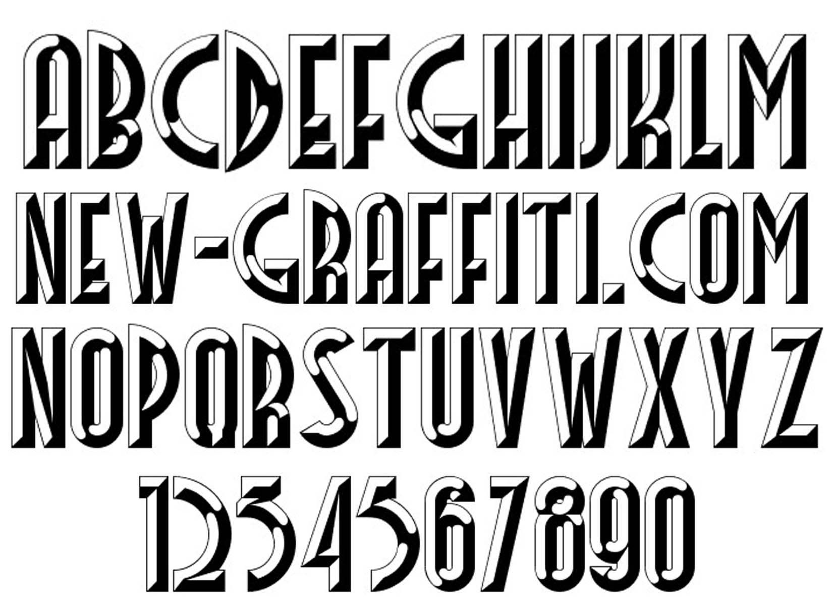 Free Download 3D Font Style Facets | new-graffiti | fonts ...