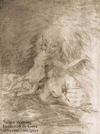 Saturn Drawing Goya