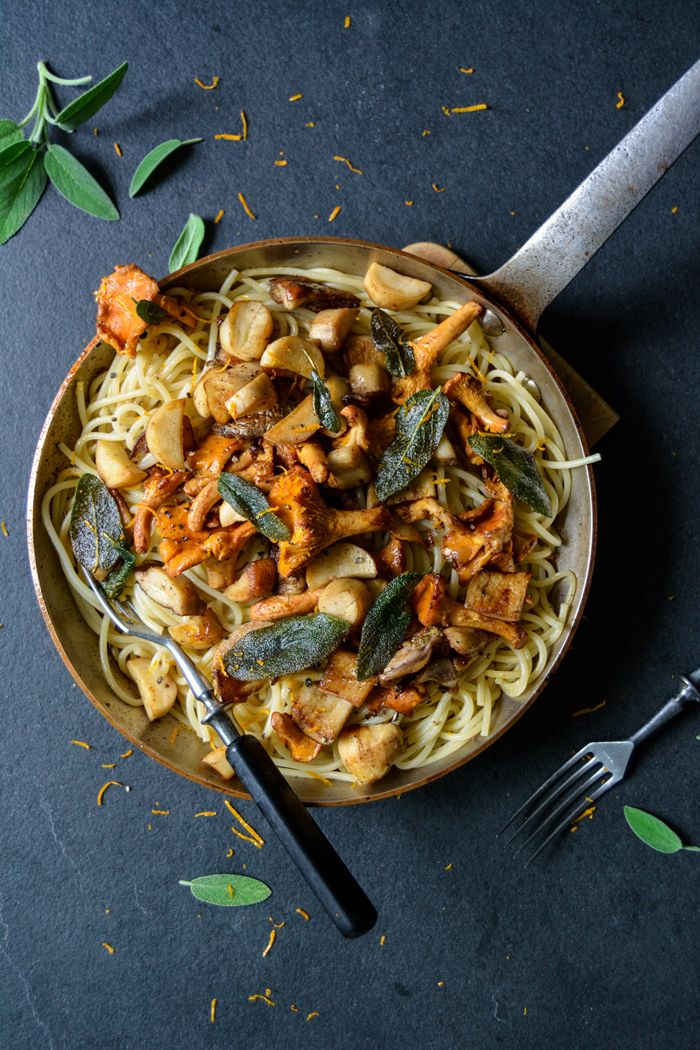 Porcini And Chanterelles Spaghetti With Orange Butter And Sage Eat