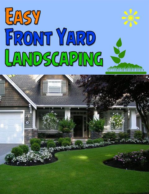 Landzine Easy Front Yard Landscaping Front Yard Garden Design Front Yard Landscaping Design House Landscape