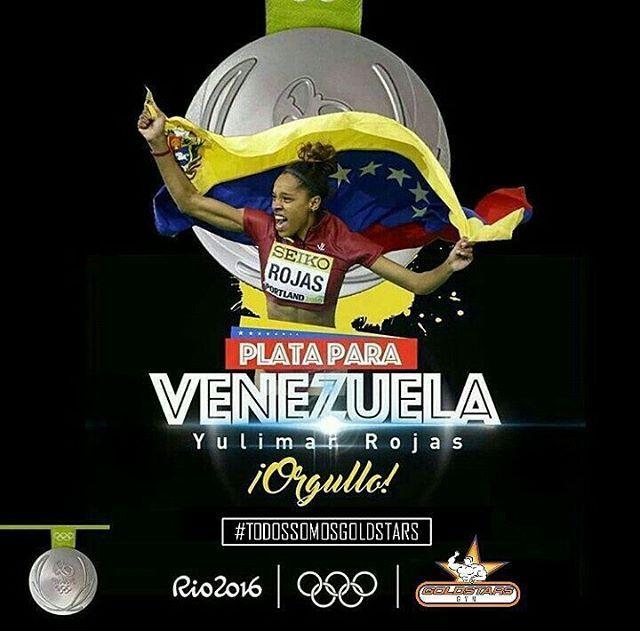 @goldstarsgym Medalla de plata para Venezuela!  La venezolana Yulimar Rojas…