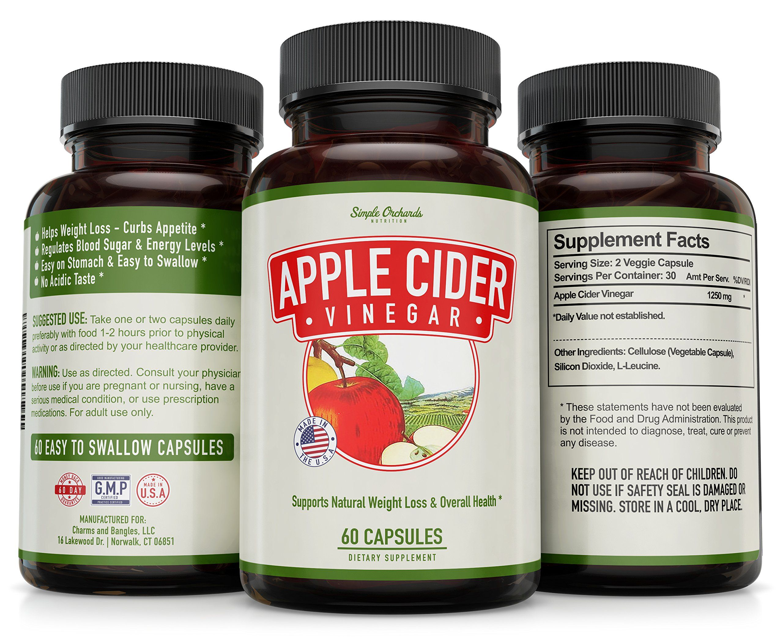Apple Cider Vinegar Pills For Natural Weight Loss Extra Strength