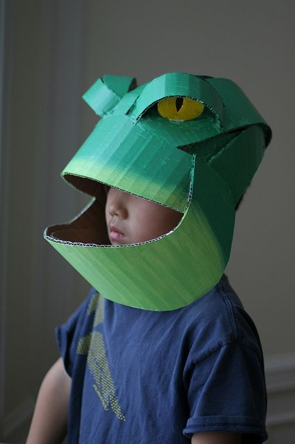 Frog mask, painted