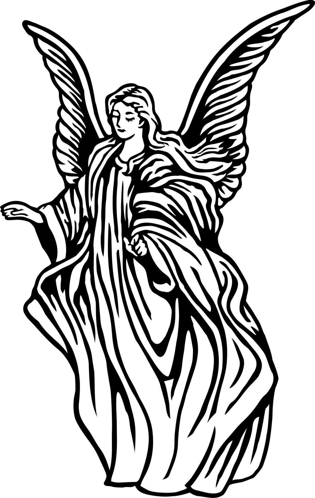 17 Drawings Of Angels Drawingwow Com Angel Drawing Angel Clipart Angel Wings Clip Art