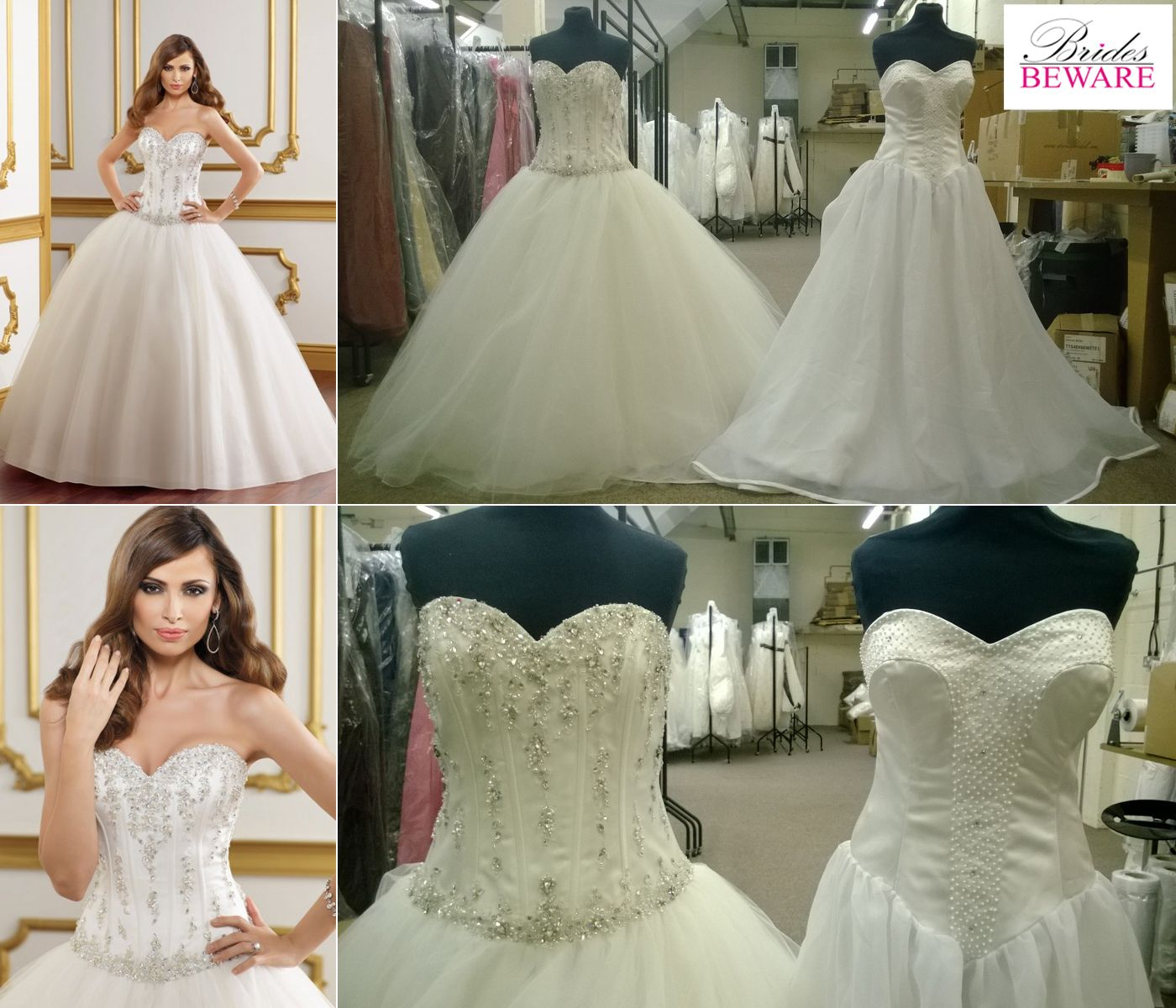 Beau Fake Mori Lee Wedding Dress