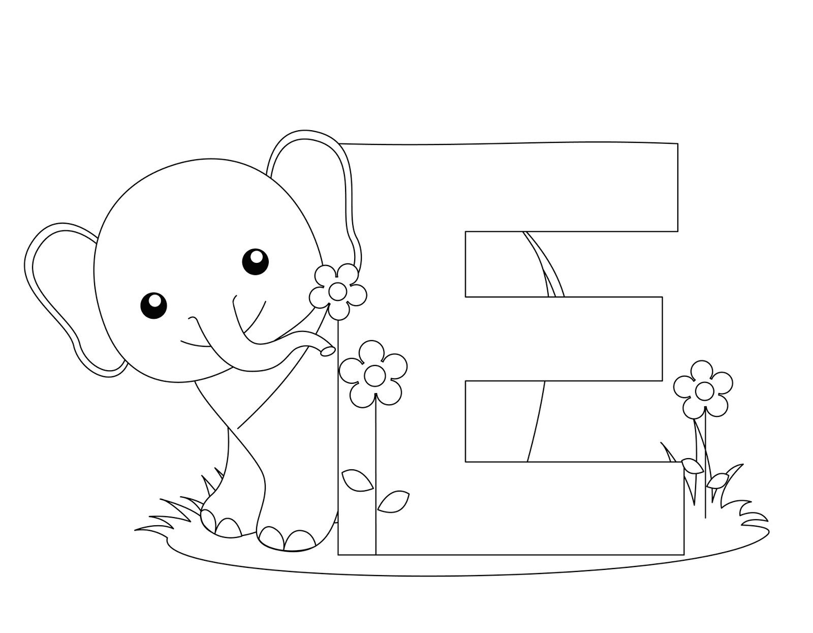 Letter Coloring Pages Made Of Animals