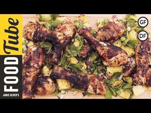 Jerk Chicken with Pineapple Salsa   DJ BBQ & Bondi Harvest - YouTube