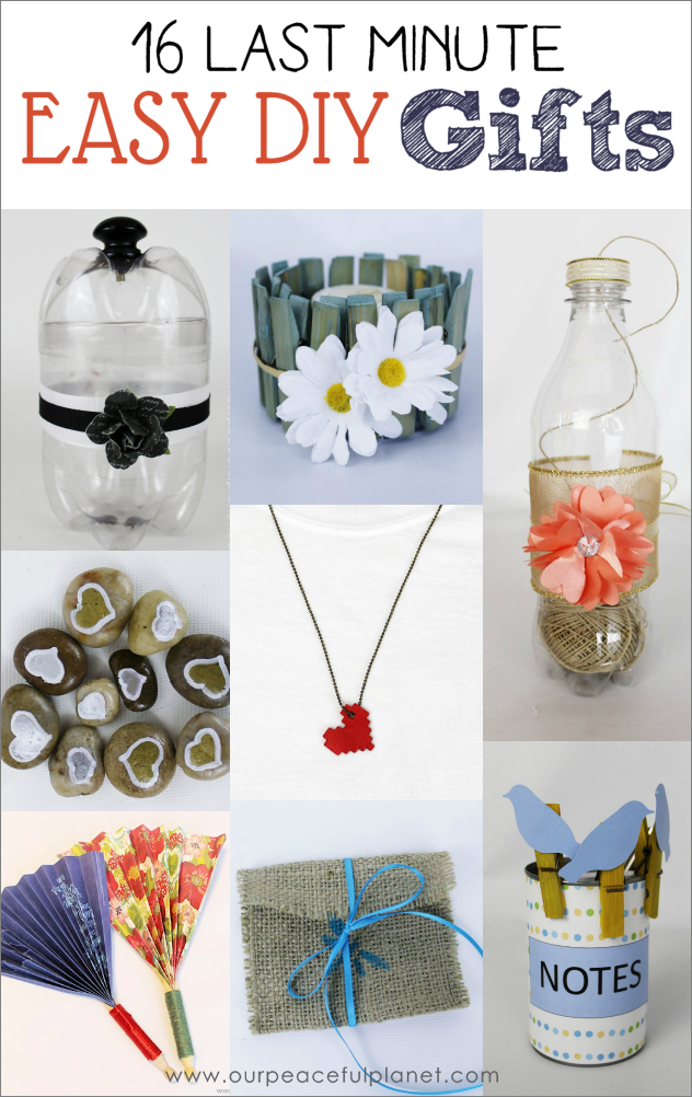 16 Last Minute Easy DIY Gifts · | Easy diy gifts, Classy and Gift
