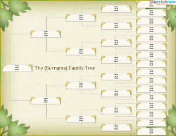 Free Family Tree Template  Easy To Convert To A Coloured Pedigree