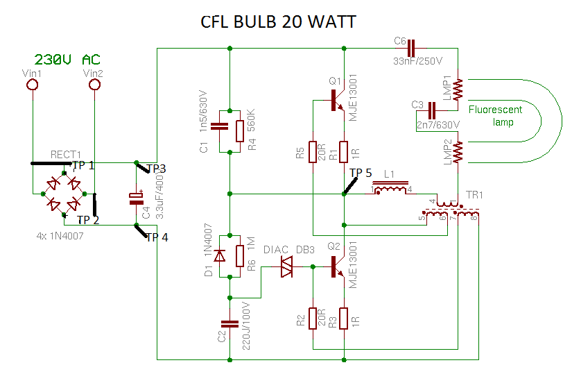 how to repair a dead cfl : your cfl bulb does not glow then follow these  step