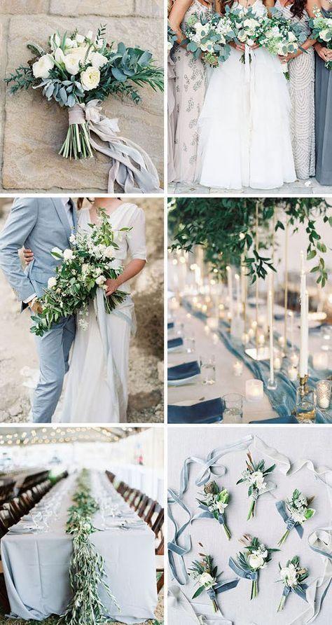 10 GORGEOUS WEDDING COLORS WITH LUSH GREENERY – Brautstrauß und Blumen für die… – Hochzeitskleid