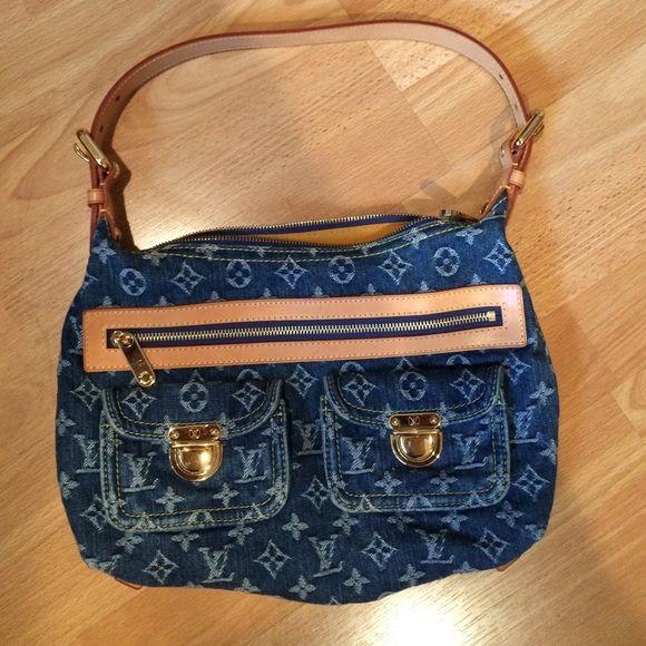 Louis Vuitton Denim Shoulder Bag Like new condition. Comes with dust bag Louis Vuitton Bags Shoulder Bags