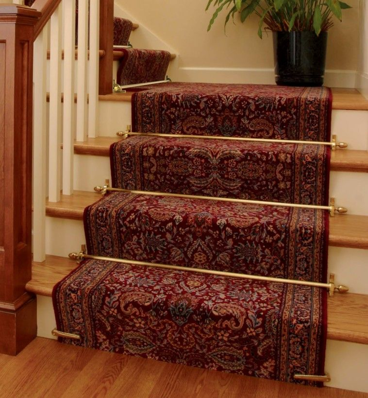 Red Oriental Carpet Runner By The Foot Which Mixed With Golden Gilded Iron  Rod And Light