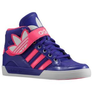 adidas Originals Hard Court Hi Strap - Girls' Preschool - Black/Blast Pink/.  Kids Running ShoesBasketball ...