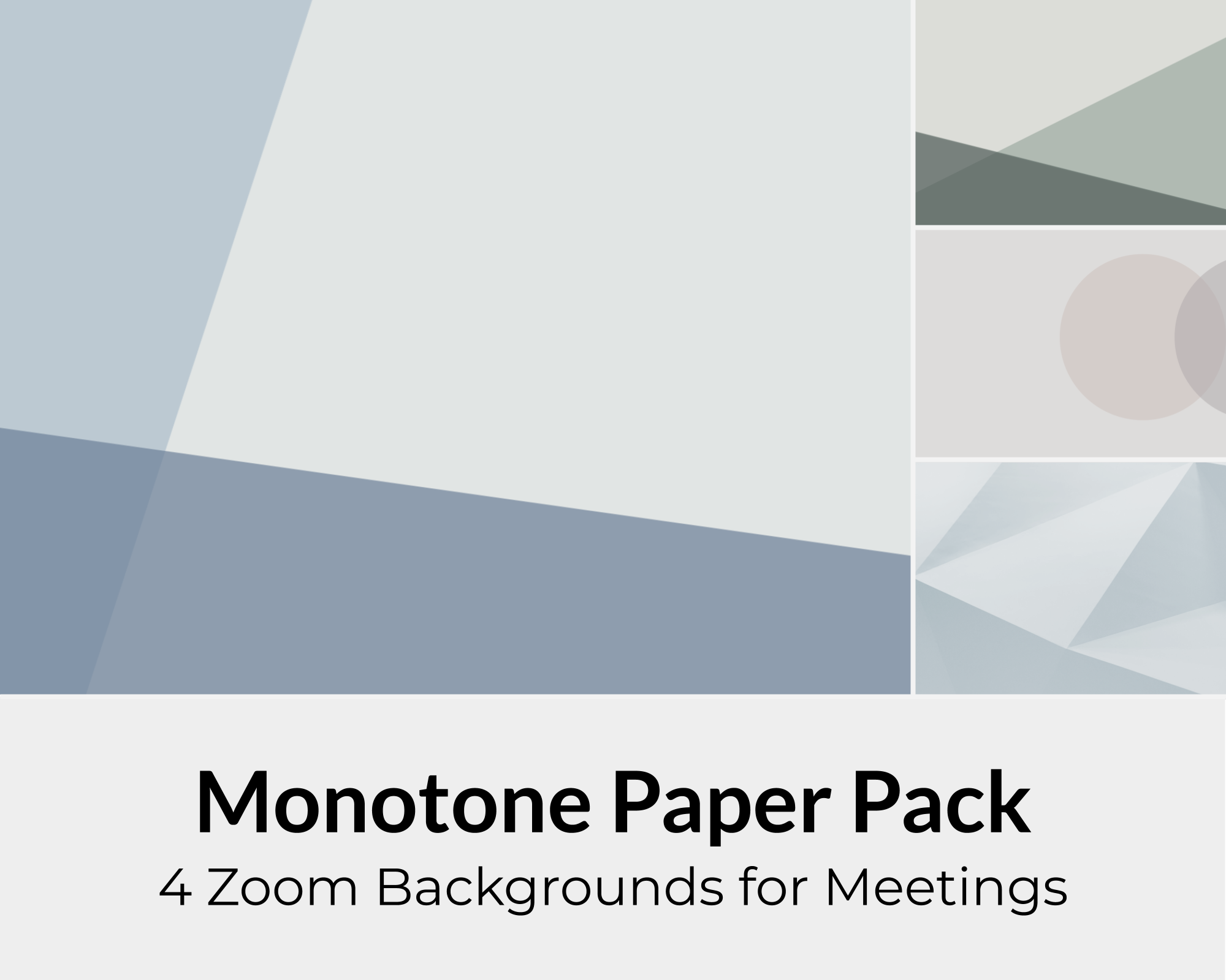 Monotone Zoom Background Pack For Online Meetings Virtual Etsy Background Monotone Wall Background