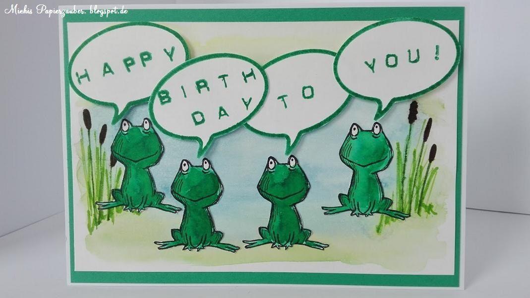 Stampin Up Love You Lots Frosch Geburtstagskarte Karten