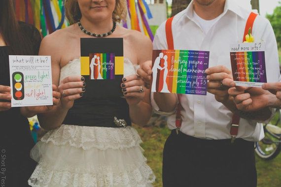 What A Creative Rainbow Invitation Suite Find More Etsy Thursday Wedding Inspiration