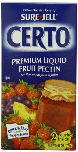 Sure Jell Certo Fruit Pectin 6 Ounce Boxes Pack Of 4 Once In A Lifetime Offer Baking Desserts Recipes Pectin Fruit Food