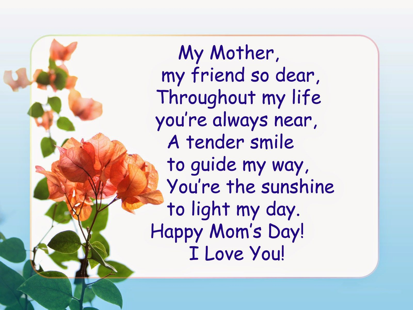 Happy Mothers Day Poems From Daughter & Son Happy mother