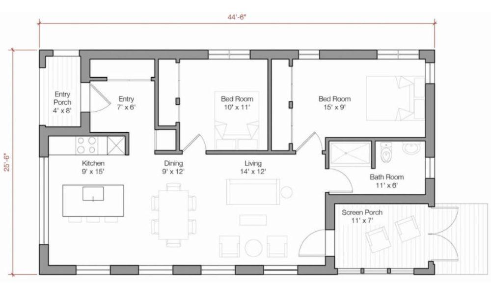 Go Logic 1000 Sq Ft Plans A B By Go Logic Prefab Home Prefab Homes Dream House Prefab