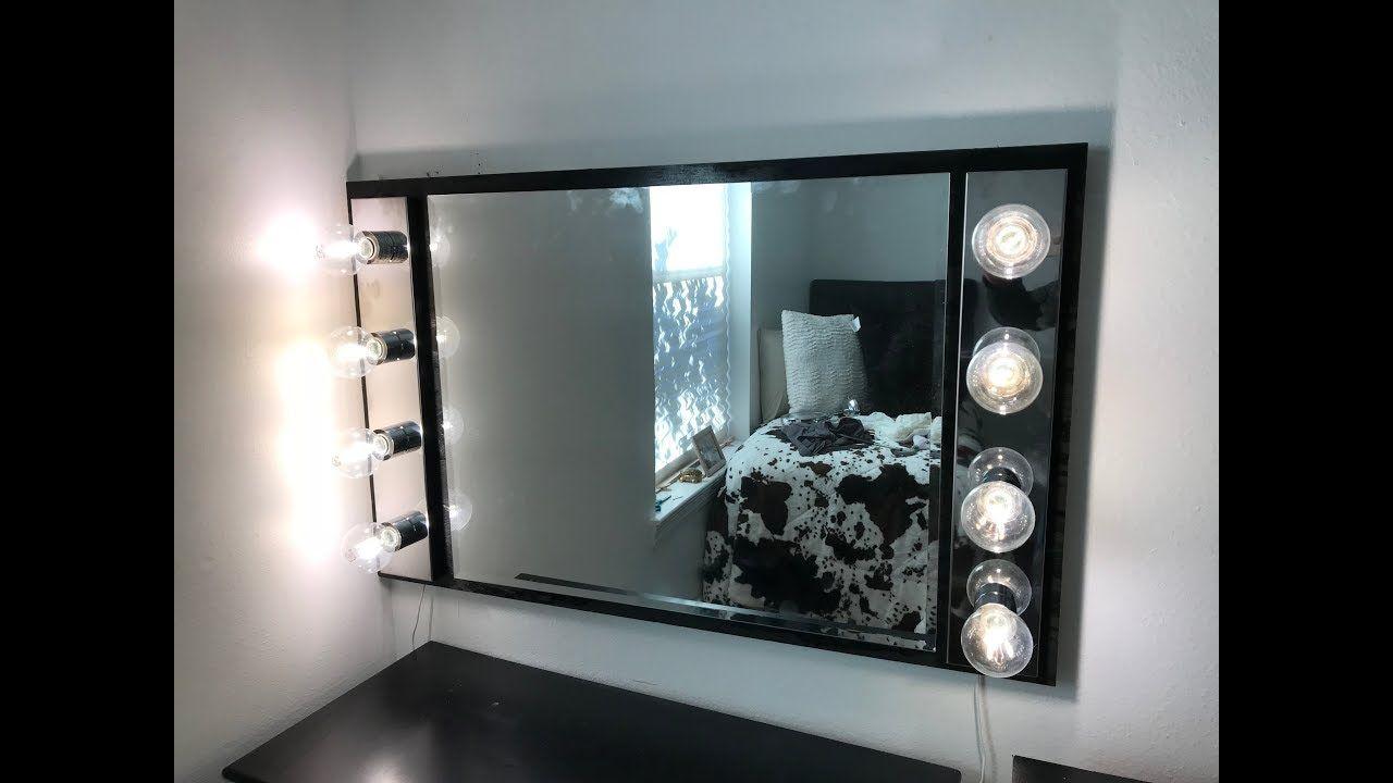 DIY Vanity Mirror with Lights Diy vanity mirror with