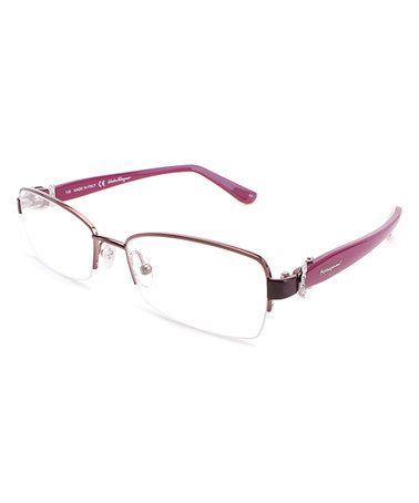 This Light Pink Half-Rim Eyeglass Frames is perfect! #zulilyfinds ...