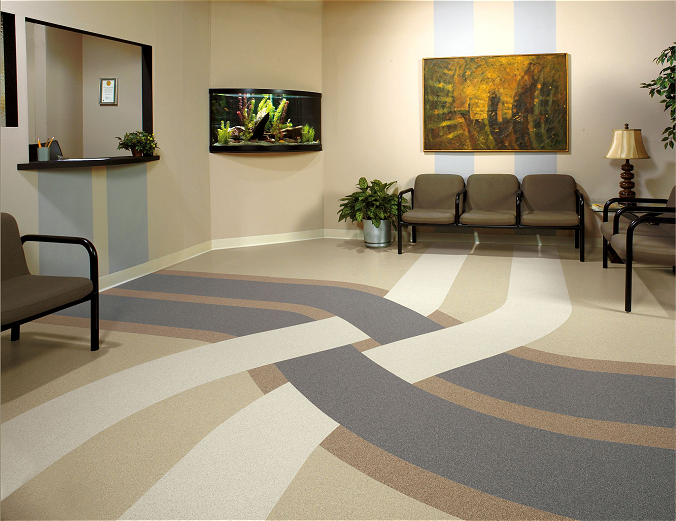 Armstrong Linoleum Floor Installation At Harn Flooring And Blinds Of San Diego