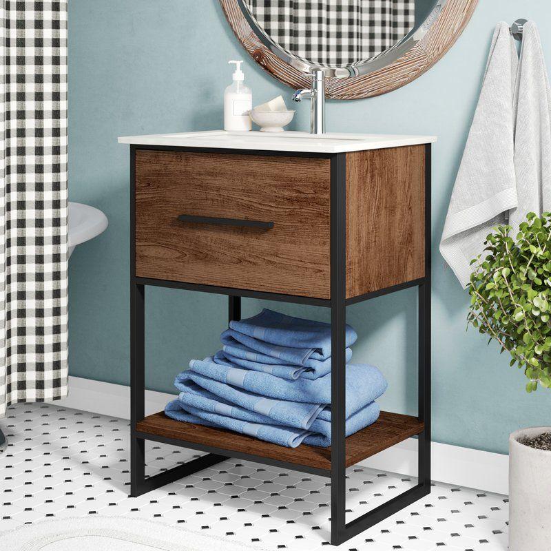 "Eckard 24"" Single Bathroom Vanity Set Vanity set, Single"