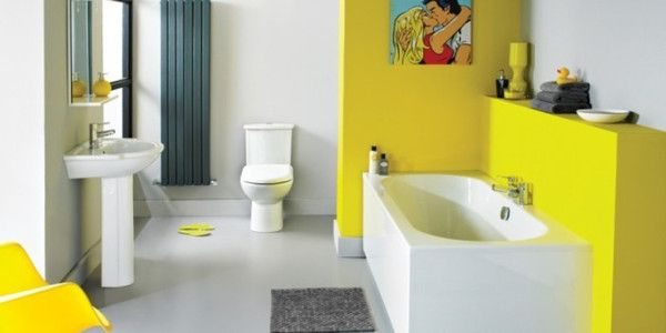Trending Bathroom Designs Endearing Trending In Bathroom Design Yellow Bathrooms  Yellow Bathrooms Inspiration