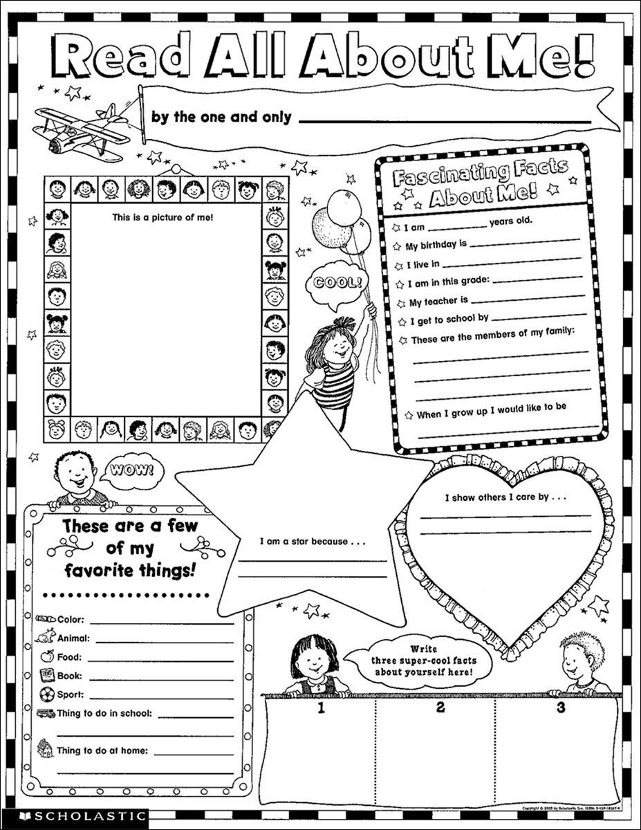 Read All About Me 30 Big Write And Read Learning Posters With